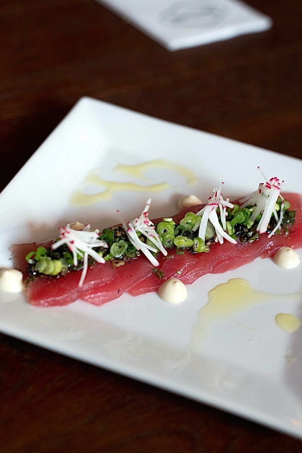 Distilled's Tuna Crudo (photo courtesy of Distilled)