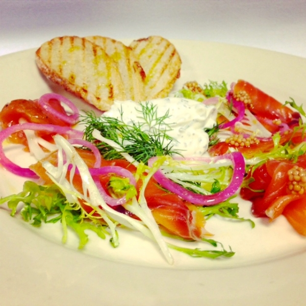 Landmarc's House Cured Salmon (photo courtesy of Landmarc)