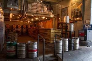 Kelso kegs waiting to be consumed