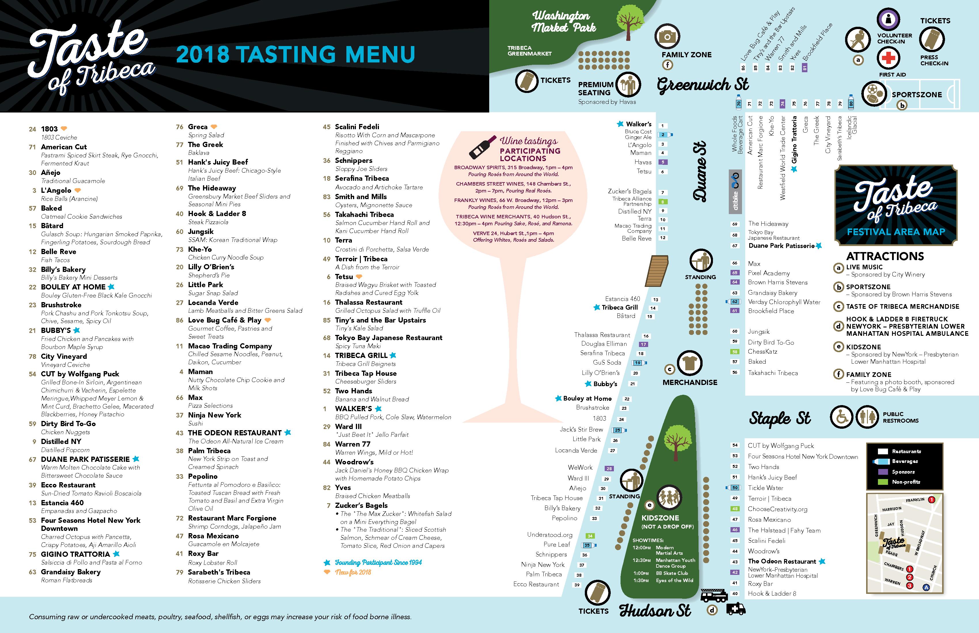 2018 Festival Map